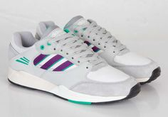 adidas Tech Super – Running White – Tribe Purple – Aluminum – Available