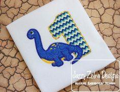 One Brachiosaurus Applique Design with by JazzyZebraDesigns