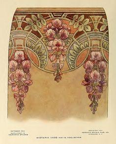 1914 Wisteria Vase_CA Keramic Studio | Flickr - Photo Sharing!