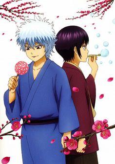 Little Gin & Takasugi I Love Anime, Me Me Me Anime, Manga Anime, Anime Art, Gintama Wallpaper, Natsume Yuujinchou, Okikagu, Another Anime, Manga Covers