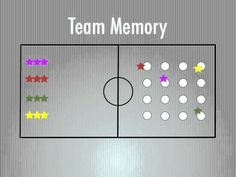 Games - Team Memory fun game for all grades! can use cones instead of polydots to cover- since I don't have enough colors for middle school each group may only be collecting maybe 5 beanbags but that should still work. Physical Education Activities, Elementary Physical Education, Elementary Pe, Pe Activities, Health And Physical Education, Team Building Games, Team Games, Fun Games, Teamwork Games