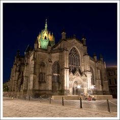 St Giles' cathedral, on Edinburgh's Royal Mile, in Scotland.