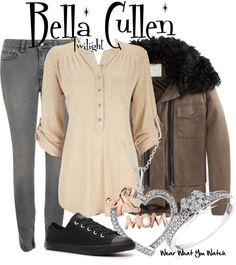Inspired by Kristen Stewart as Bella Cullen in the Twilight film franchise.