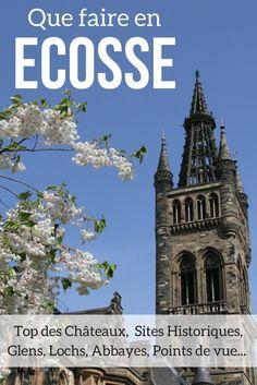 Découvrez les plus beaux lieux à voir en Ecosse à voir et à visiter : les châteaux les plus enchanteurs, les plus beaux paysages, les plus beaux lochs, les abbayes les plus impressionnantes, les sites historiques les plus intéressants... avec photos !   E