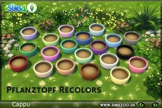 Planter recolours by Cappu. Details and download at the Simszoo (free registration required) Find this and a lot more at the Simszoo! Need help with registration? Have a look here! If you play Sims 3...