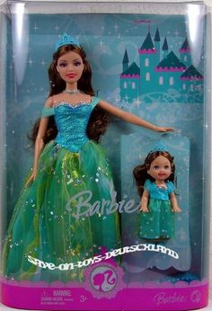 Fashion Doll: Barbie Princess Sisters  Teresa and Kelly with Glittering Blue Gown M8464 * Find out more about the great product at the image link.