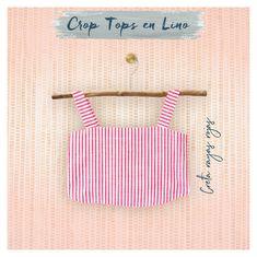 Crop Tops en Lino Spring Tops, Spring Summer, Crop Tops, Tank Tops, Women, Fashion, Red Stripes, Dry Cleaning, Bucaramanga