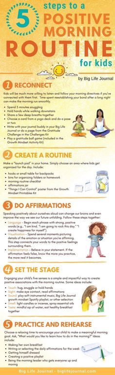 5 Steps to a Positive Morning Routine for Kids A good day starts with a good beg. 5 Steps to a Positive Morning Routine for Kids A good day starts with a good beginning, but once the school ye Parenting Humor, Kids And Parenting, Parenting Hacks, Parenting Styles, Parenting Classes, Foster Parenting, Morning Routine Kids, Vie Motivation, Raising Kids