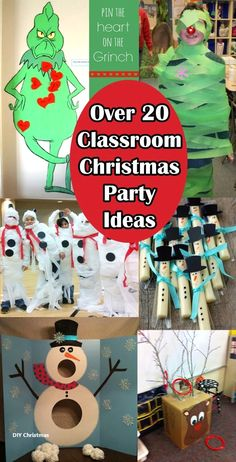 Classroom Christmas Party Ideas with Christmas around the corner, many teachers are busy trying to plan the kids Christmas party in the classroom, so we have ro Christmas Party Table, School Christmas Party, Christmas Games For Kids, Christmas Fun, Christmas Classroom Treats, 2nd Grade Christmas Crafts, Minute To Win It Games Christmas, Christmas Party Activities, Kindergarten Christmas Crafts