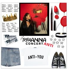 Hot Ticket: Rihanna Concert by hajni0103 on Polyvore featuring Converse, Marc Jacobs, NARS Cosmetics, Seletti, Opera D'arte and Old Navy