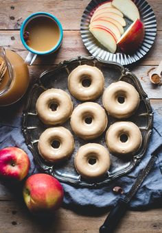 Baked Apple Cider Donuts with Brown Butter Glaze