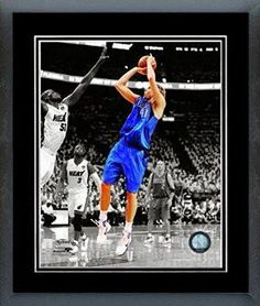 Dirk Nowitzki Framed With double black matting Ready To Hang- Awesome & Beautiful