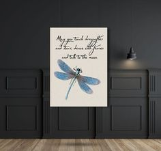 Dragonfly printable May you touch by littletigerdesigns on Etsy