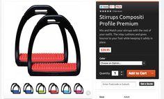 Full range of colours: Stirrups Compositi Profile Premium.  Now available at horses-store.com $45 per set