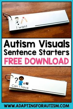 Enter your name and email to grab this free printable autism visual support. These sentence starters are perfect for special education classrooms and have multiple benefits including increasing communication. Try this simple, effective and portable autism Special Education Activities, Autism Education, Autism Learning, Social Skills Activities, Autism Classroom, Special Education Classroom, Speech Therapy Activities, Education City, Texas Education