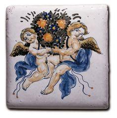 Civita Castellana italian ceramic tiles - Tile 28 - Raffaello Collection