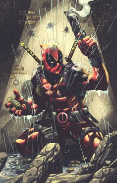 thecyberwolf:  Deadpool Colors by Stephan Lemineur(Nahp75) Find this artist onDeviantArt-Twitter-Facebook /  More Arts from this artist on my TumblrHERE