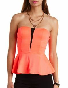 Favorite summer top on nites out Nice Tops, Charlotte Russe, Spring Fashion, Peplum, Mesh, Clothes, Women, Projects, Blouses