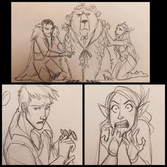Critical Role doodles from last night! #sketches #doodles #CriticalRole #dnd