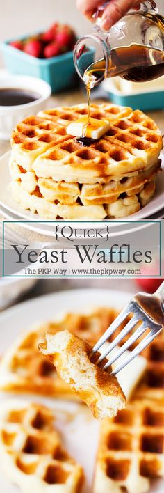 Ready in 90 minutes and your new go-to recipe, these Quick Yeast Waffles are crispy, airy, tender, tangy, and have just a hint of sweetness.
