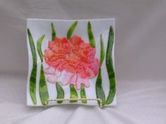 Beautifully Artistic Dichroic Glass Plate