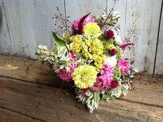 Great handheld bouquet of  August blooming flowers.  Www.buckeyeblooms.com