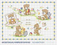 GRAFICOS INFANTILES PUNTO DE CRUZ (pág. 45)   Aprender manualidades es facilisimo.com