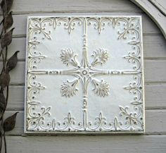 Antique PRESSED TIN. 2'x2' FRAMED Tin Ceiling by DriveInService