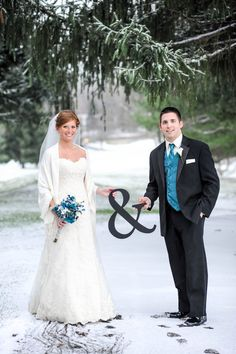Winter wedding photo ideas...