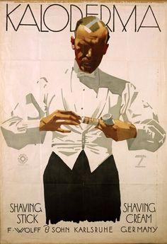 "By Ludwig Hohlwein (b.1874 - d.1949, Germany), ""Kaloderma""- Shavin Cream-, Advertising Design Poster"