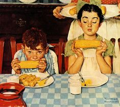 Norman Rockwell Prints, Norman Rockwell Paintings, Art Vintage, Vintage Posters, Vintage Food, Peintures Norman Rockwell, Children's Picture Books, Arte Pop, Caricatures