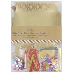 00558599g 478478 christmas craft pinterest crafts this make your own cracker kit gives you everything you need to create a fun filled christmas the set contains enough material to create 10 crackers in solutioingenieria Gallery