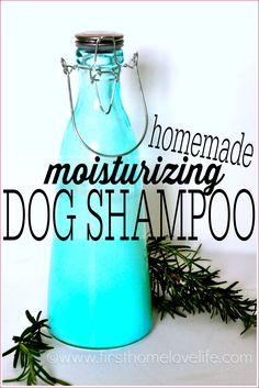 NO MORE STINKY DOG! This homemade dog shampoo is super moisturizing, and leaves your pets fur looking and feeling great! #PETS #DIY #DOG #DOGS #LABRADORS #LABS #HOMEMADE #BEAUTY www.firsthomelovelife.com