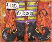 Happy Halloween - Mixed media art prints available