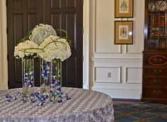 Blue Wedding Arrangements, Free Wedding, Glass Vase, Floral Design, Luxury, Create, Flowers, Home Decor, Decoration Home