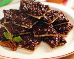 Chocolate Pecan Bars Recipe - http://www.allbakingrecipes.com/recipes/chocolate-pecan-bars-recipe/