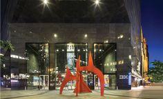 The Alexander Calder structure below cantilevered roof