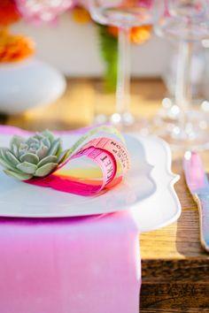 Bright summer details: http://www.stylemepretty.com/california-weddings/santa-monica/2015/01/23/colorful-santa-monica-pier-wedding-inspiration/ | Photography: Sorella Muse - http://www.sorella-muse.com/