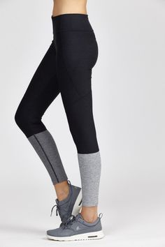 Dipped Warmup Legging by Bandier