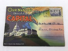 Vintage Linen Postcard Booklet Our Nation's Beautiful Capital (US) Posted GUC  | eBay