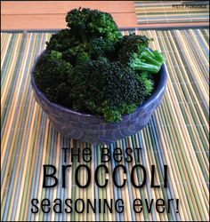 The Best Broccoli Seasoning Ever! Anything that makes me want to eat a vegetable is a major win.. and I seriously can't get enough of this stuff.