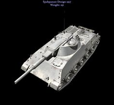 The design was notable for its unique turret and gun set-up, which let the gun depress through the top of the tank. This lets the tank keep a low profile without sacrificing gun depression.