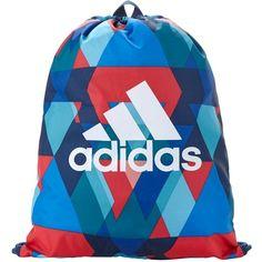 Adidas Triax Gym Bag ($13) ❤ liked on Polyvore featuring bags, print bags, drawstring bag, adidas, adidas bag and pattern bag