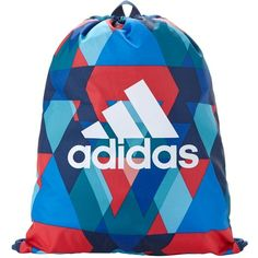 Adidas Triax Gym Bag ($13) ❤ liked on Polyvore featuring bags, print bags, drawstring bag, adidas, adidas bag and pattern bag