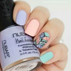 Love This Beautiful & Unique Cute Nail Art Designs. Check Our List For More Nail Art Ideas ♥ Perfect Nails, Gorgeous Nails, Love Nails, Fun Nails, Pretty Nails, Fall Nail Art Designs, Cute Nail Designs, Nail Art Vernis, Tribal Nails