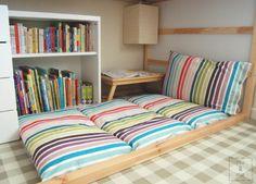 Folding Floor Cushion or bench cushion for porch
