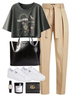 A fashion look from August 2017 featuring patch shirt, tapered trousers and logo shoes. Browse and shop related looks. Cute Casual Outfits, Chic Outfits, Spring Outfits, Look Fashion, Korean Fashion, Winter Fashion, Mode Ootd, European Fashion, Aesthetic Clothes
