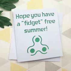 Funny teacher card, card for teacher, teacher card, fidget spinner, teacher appreciation, thank you teacher, teacher gift, headteacher by AprilDaysDesigns on Etsy