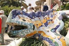 Park Güell, mosaics by Gaudi