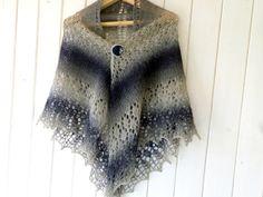Shawl Shoulder Knit Wrap Knitted scarf wool scarf by LidiaAndVary